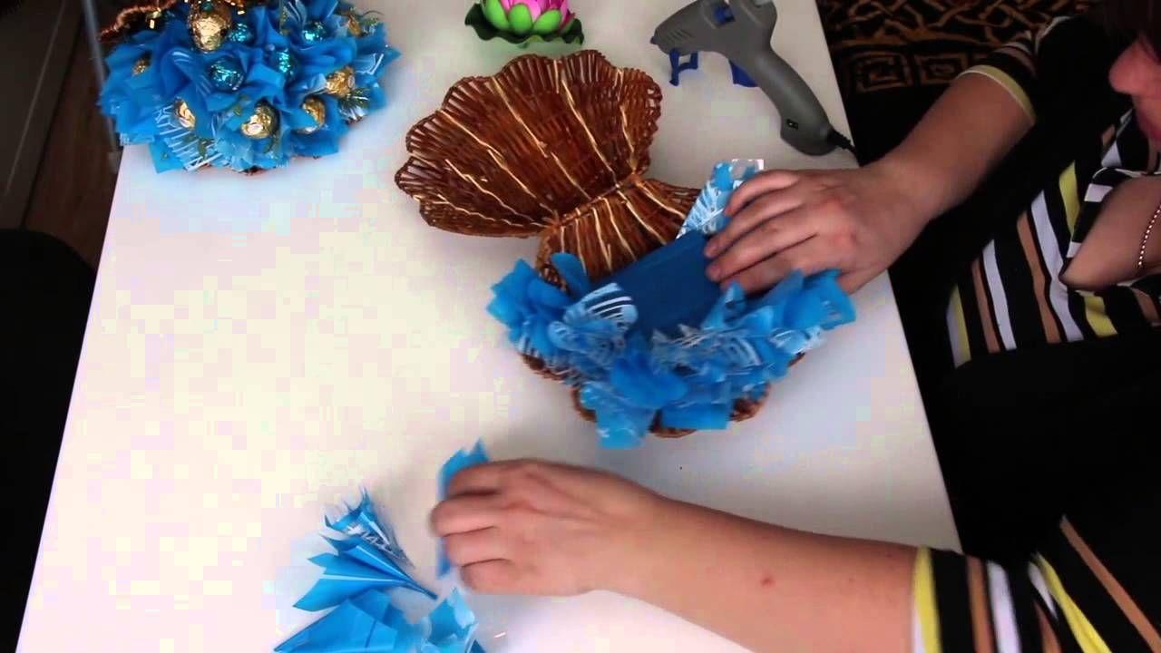 Ракушка из конфет своими руками мастер класс
