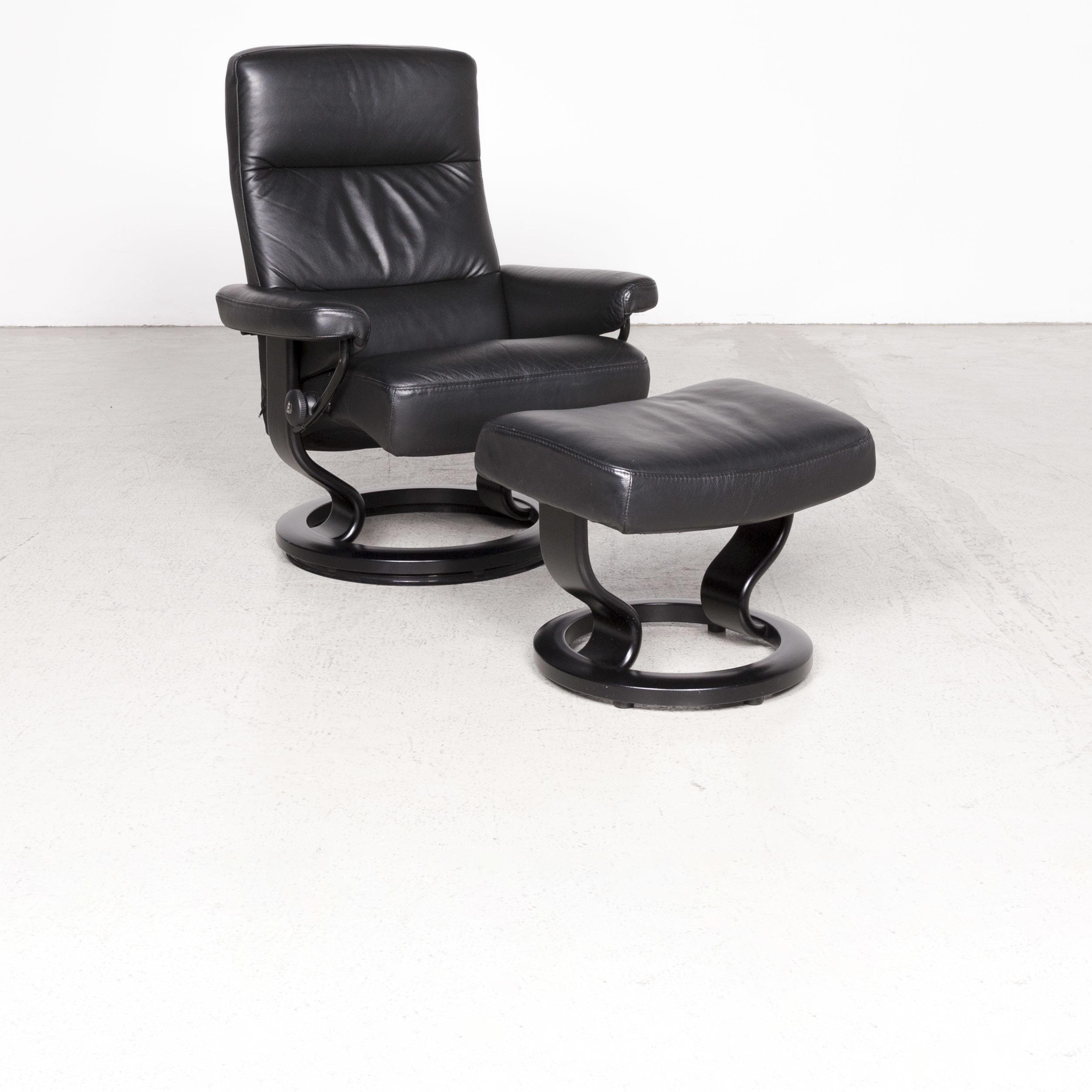 Swell Stressless Atlantic M Designer Leather Armchair With Stool Creativecarmelina Interior Chair Design Creativecarmelinacom