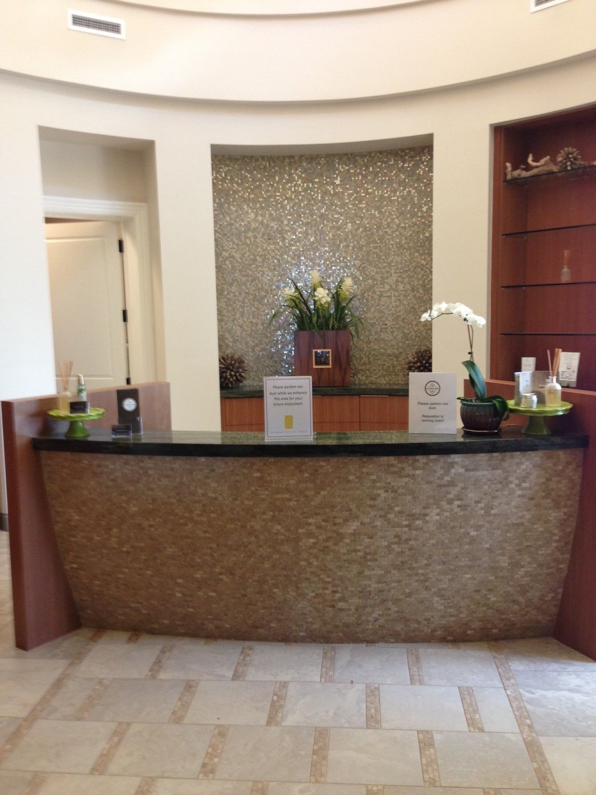 Treviso Bay Spa Reception Area. To inquire about our products and services  call (239