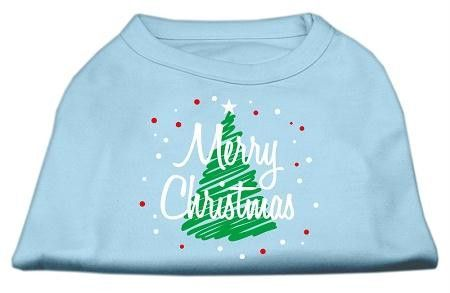 Scribbled Merry Christmas Screenprint Shirts Baby Blue XXXL (20)