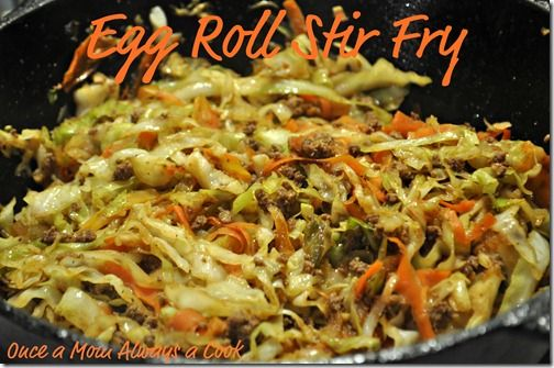 Egg Roll Stir Fry With Images Recipes Asian Recipes Main Dish Recipes