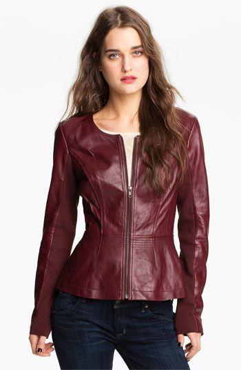 Leather Jacket ♡♡ J'adore Hinge® Pinterest Fashion Peplum vEqwcdP