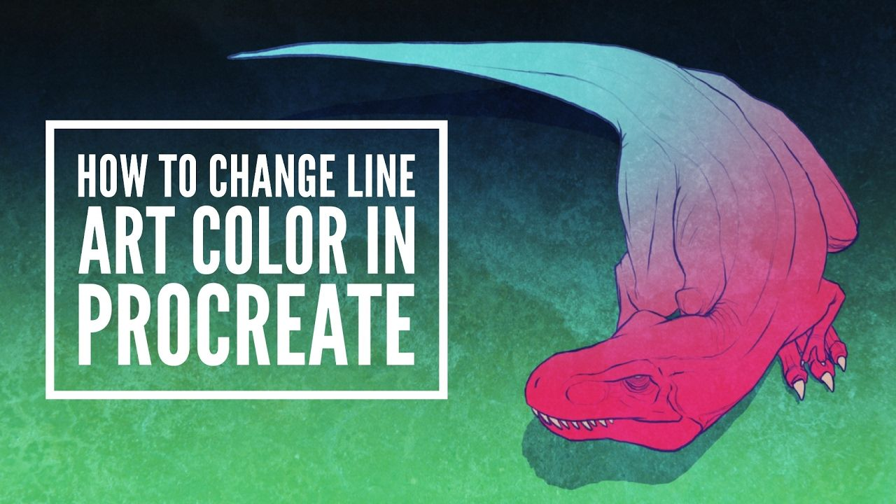 How To Change Line Art Color In Procreate Line Art Procreate Ipad Art Procreate
