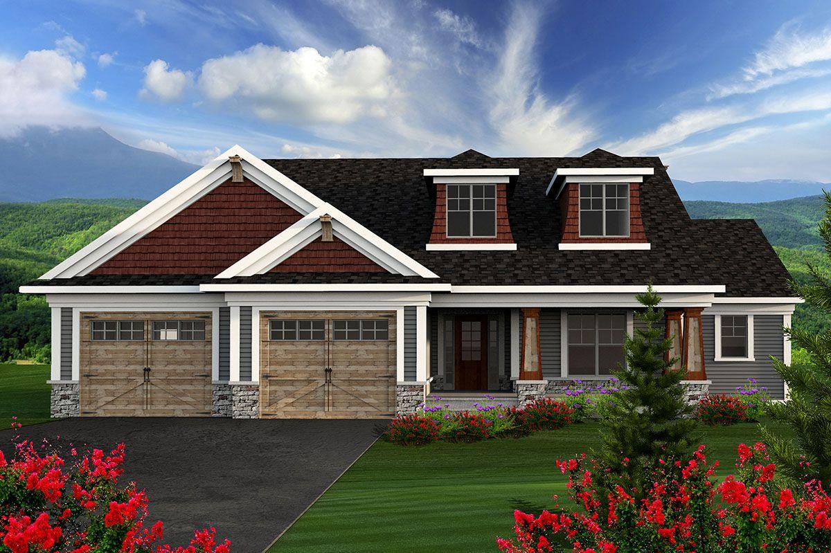Plan 89910AH: 2 Bedroom Craftsman Ranch | Craftsman house ...