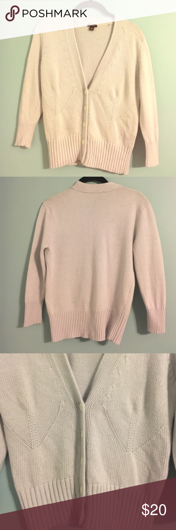 Ann Taylor purple cropped cardigan sweater Sz S | Shoulder