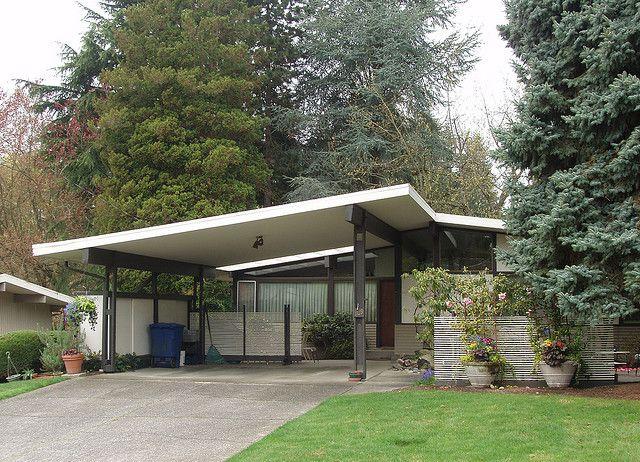 Untitled Modern carport, Mid century modern exterior