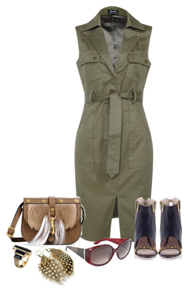 """#1"" by casadiva ❤ liked on Polyvore featuring Valentino, Konstantina Tzovolou, Fendi and House of Harlow 1960"