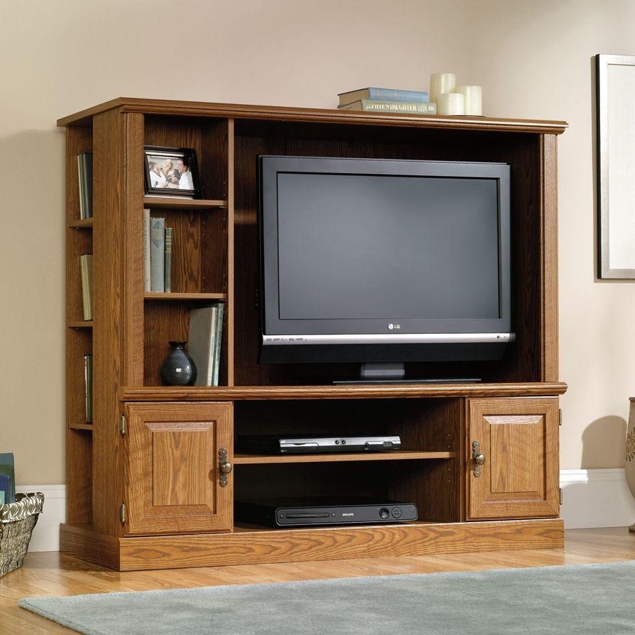 Wood TV Stand Entertainment Center Media Console Flat Screen Furniture  Cabinet #Sauder #ModernMediaConsoleCabinet