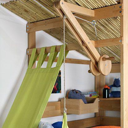 seilaufzug einrichten und m bel pinterest hochbett bett und kinderzimmer. Black Bedroom Furniture Sets. Home Design Ideas