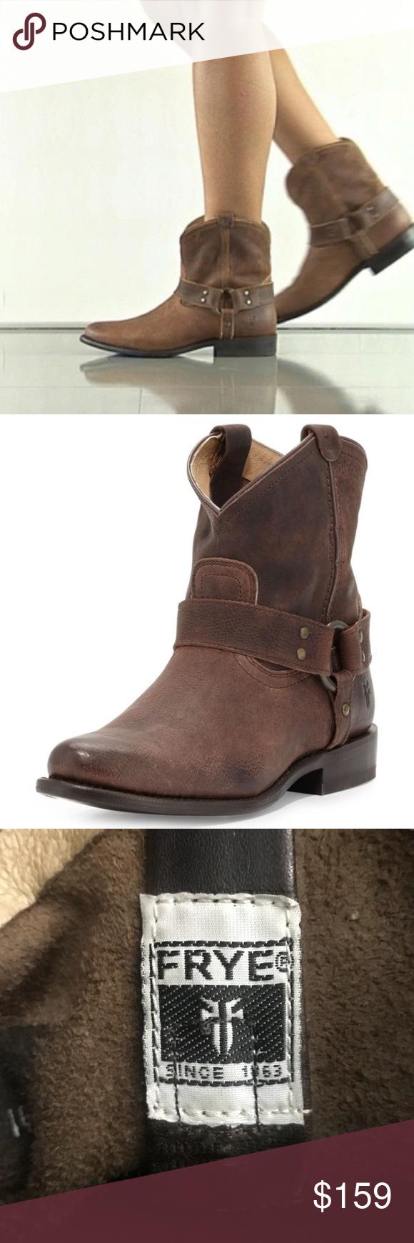 Frye Wyatt Harness Short Leather Boots Size 9.5 Frye Wyatt