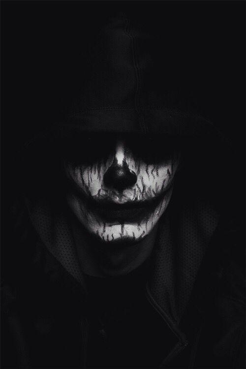 Dark Clown Face Art Black Wallpaper Iphone Dark Wallpaper Wallpaper Backgrounds Computer Wallpaper