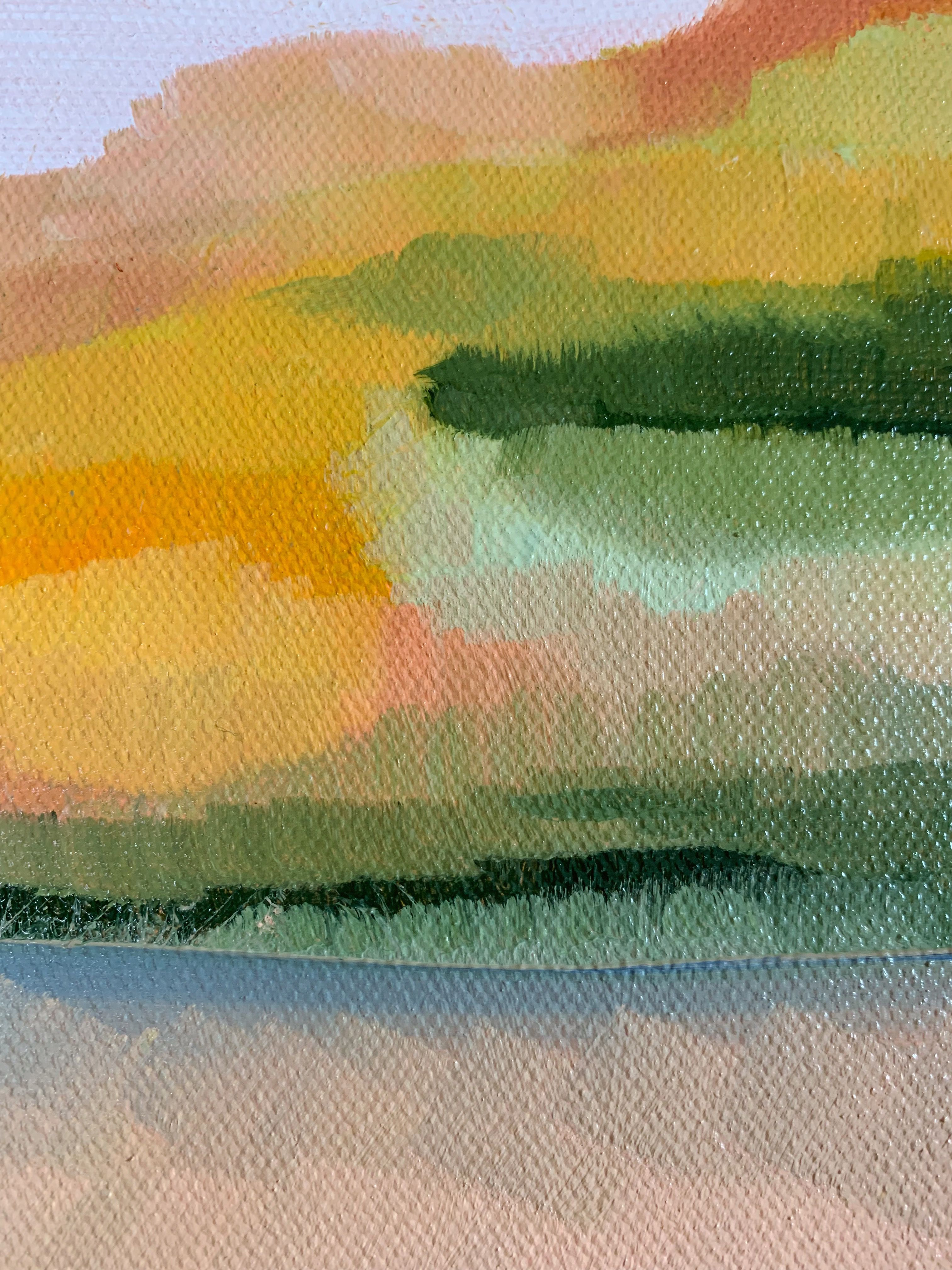 Martha S Vineyard Spring Sand Dunes Detail Contemporary Landscape Painting Lily
