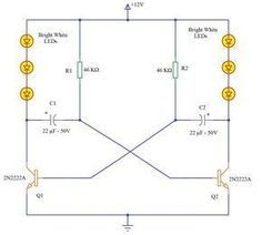 Led Knight Rider Circuit Electronice Pinterest Circuits And