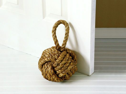 Nautical Knot Door Stopper.