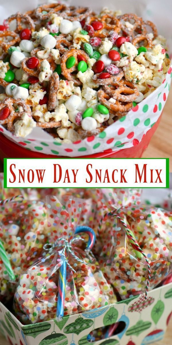 Holiday Food Ideas Christmas Party Part - 35: This Snow Day Snack Mix Is Perfect For Movie Night, Christmas Parties, And  So Much More! Made With All Of Your Favorite Snack Foods!