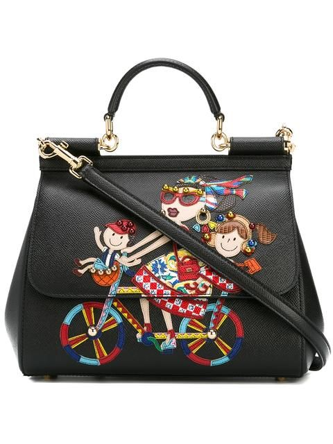 5c7be529e6 DOLCE   GABBANA DG family patch Sicily tote.  dolcegabbana  bags  stone   tote  leather  lining  shoulder bags  hand bags