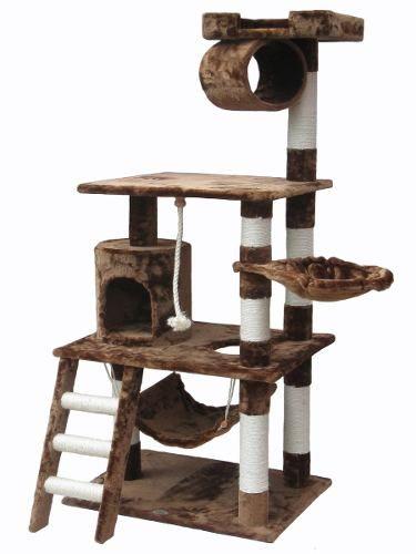 Arbol trepador rascador para gatos trepar casa rm4 cama for Mueble arenero para gatos