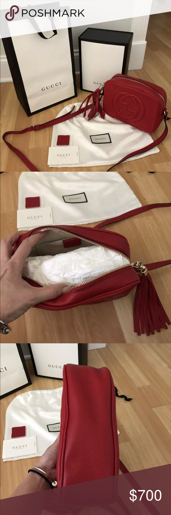 891f69b313d Red Gucci soho disco bag 100% authentic comes with original packaging  prices are negotiable Gucci