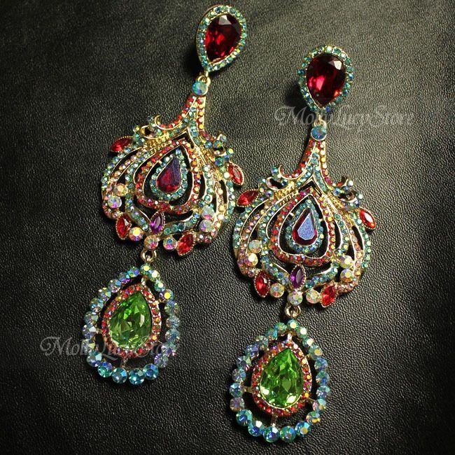 Butler and Wilson Luxurious queen dangle earrings statement earrings 4 inch in Jewelry & Watches   eBay