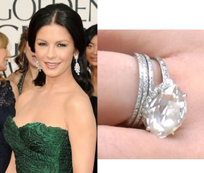 Catherine Zeta Jones And Her Engagement Ring