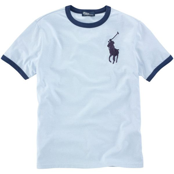 Ralph Lauren Childrenswear Guys 8-20 Big Pony Ringer T-Shirt ($11) ❤ liked on Polyvore featuring shirts