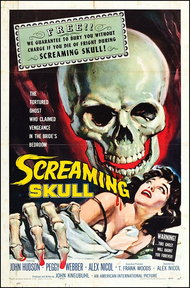 The Screaming Skull Classic Horror Movie Poster Museum Outlets Classic Horror Movies Posters Screaming Skull Horror Movie Posters