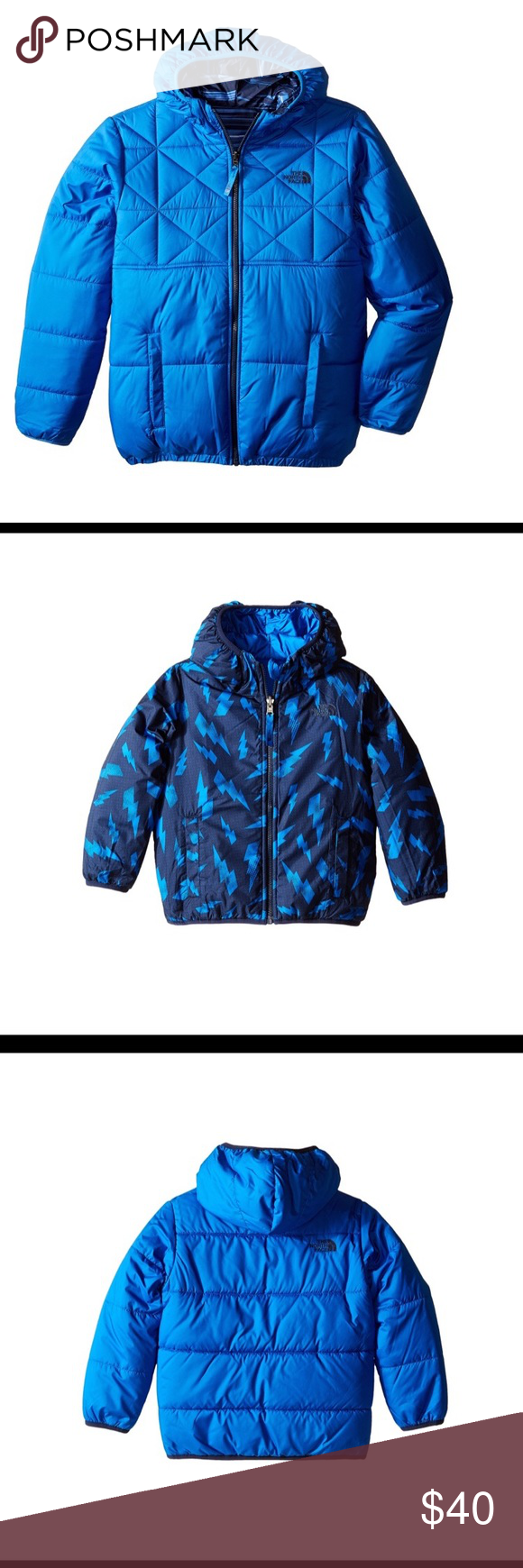 The North Face Boys Peritto Reversible Coat Reversible Coat Boys Winter Coats North Face Jacket [ 1740 x 580 Pixel ]
