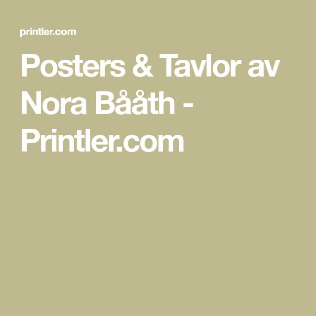 Posters & Tavlor av Nora Bååth - Printler.com