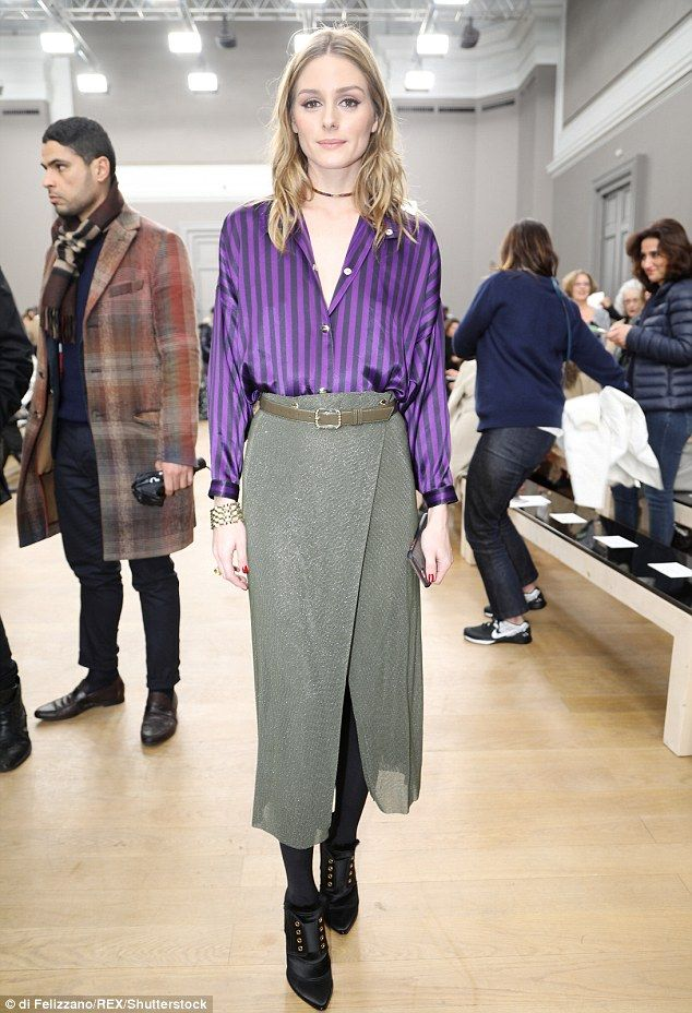 58ef620de4a Model behaviour  Olivia Palermo has continued to prove she is a leader in  the fashion stakes, put on a chic display at Nina Ricci show for Paris  Fashion ...