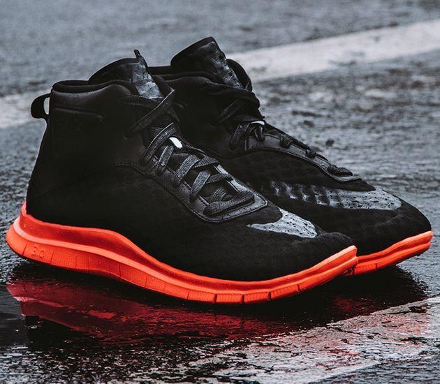 Nike Free Hypervenom Mid – Black / Hot Lava