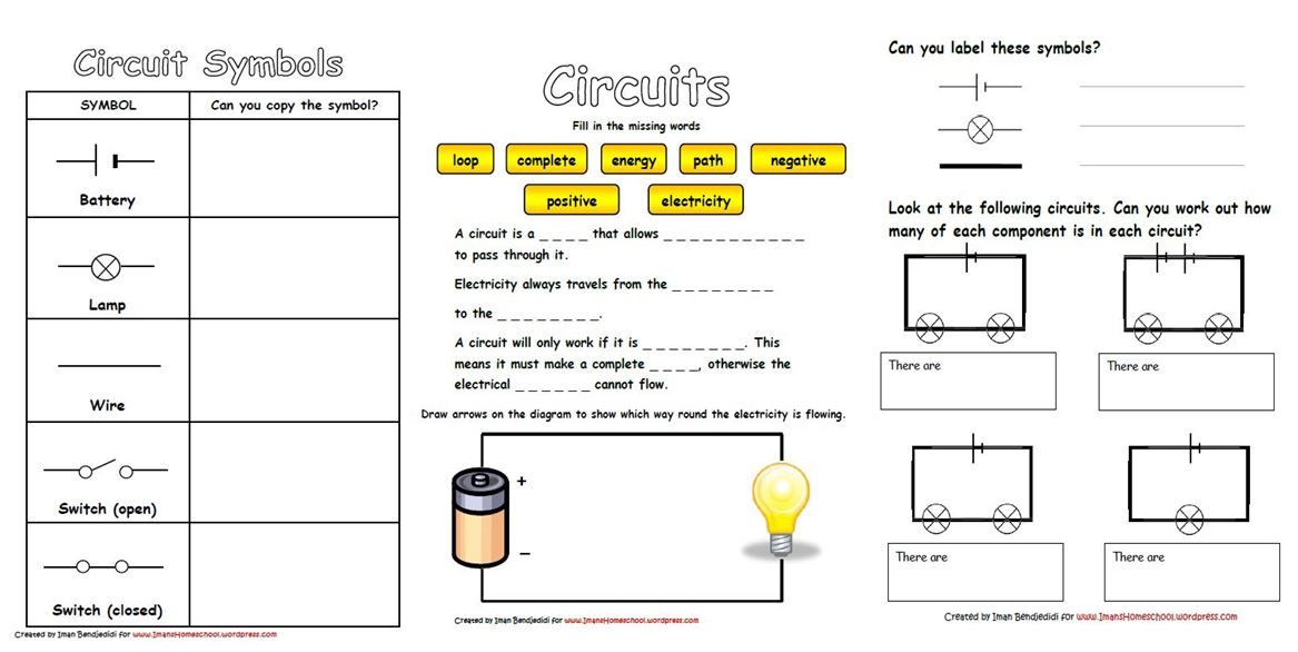 Electricity & Circuits Worksheets | Pinterest | Worksheets, Physics ...