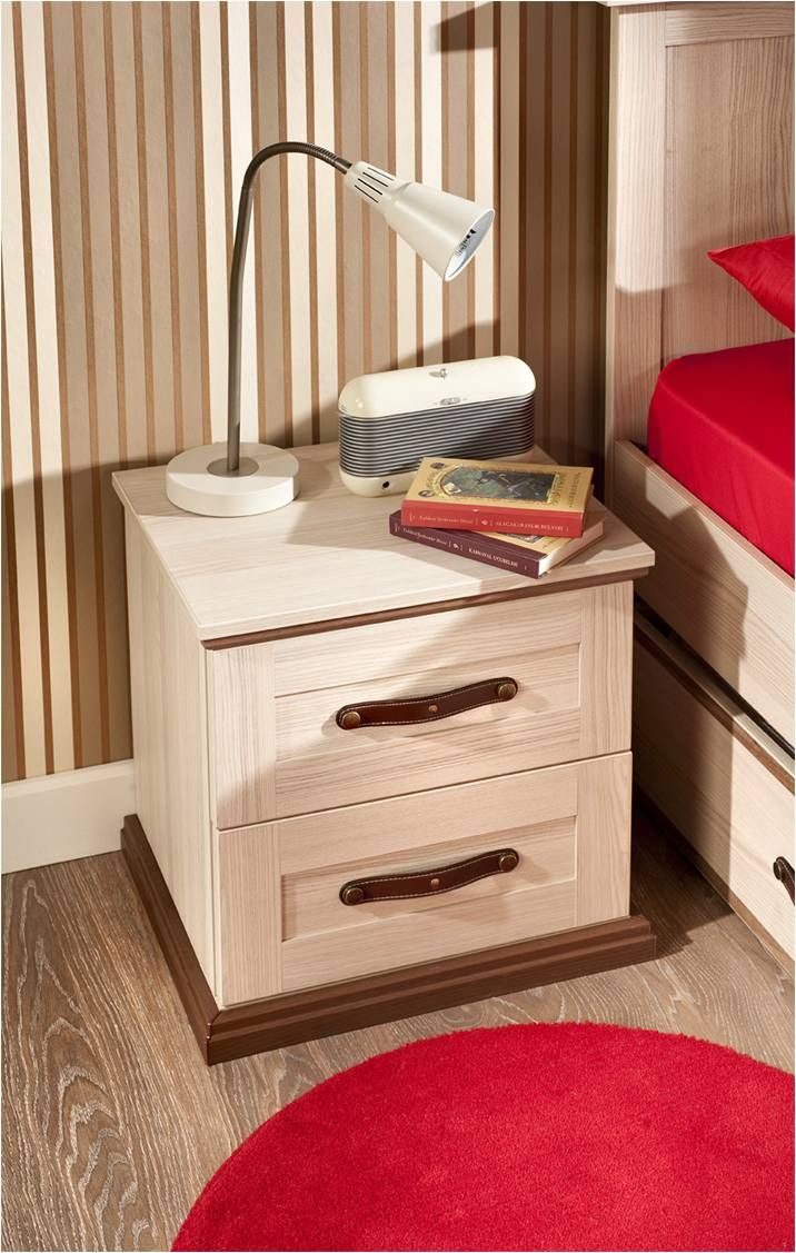 Two Drawer Side Table And A Lamp From The Royal Series