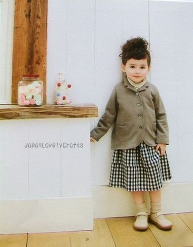 Girly Girl Lovely Clothes by Yuki Araki – Japanese Sewing Pattern Book for Children – B13, 3