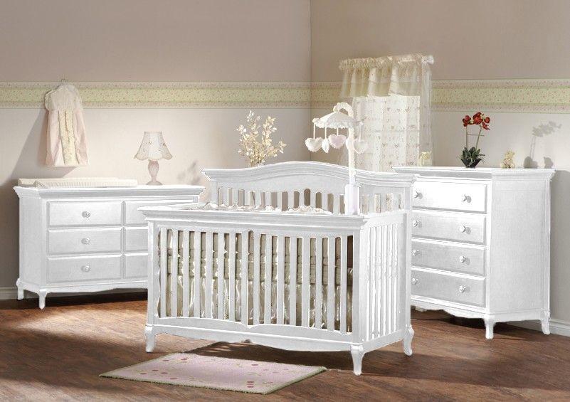 Pali Mantova Collection 3 Piece Nursery Set In White Crib Double Dresser 4 Drawer Dresser Cribs White Crib Furniture