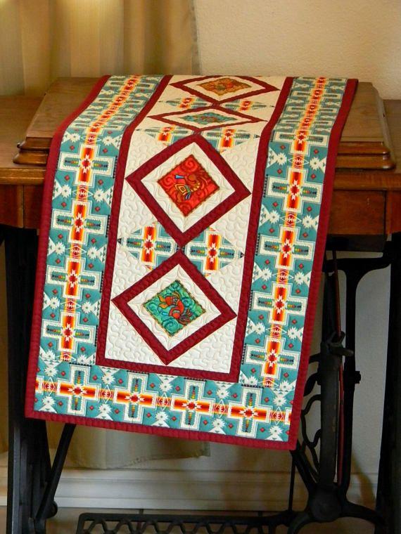 Kokopelli Table Runner Southwestern Navajo Style Table Topper