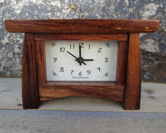 Mantel Clock Wood Clock Bungalow Clock Craftsman Clock Mantle