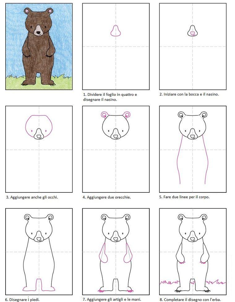 Tutorial Per Disegnare Un Orso Disegni Facili Da Copiare Per