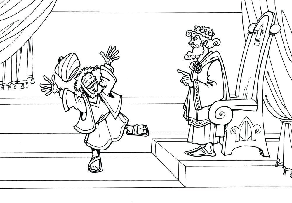 Parable Unforgiving Servant Coloring Page Bible Coloring Pages
