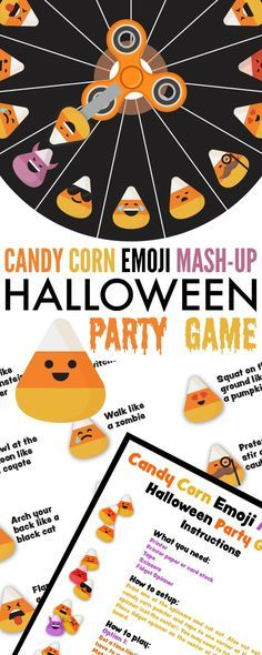 candy corn emoji mash up halloween party game