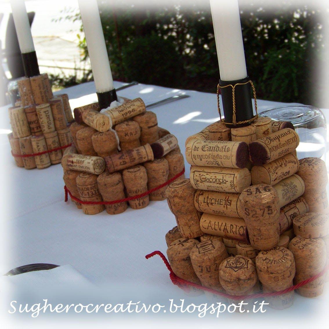 dettagli per vasta selezione di cerca l'originale porta candele con riciclo creativo tappi del vino in sughero ...