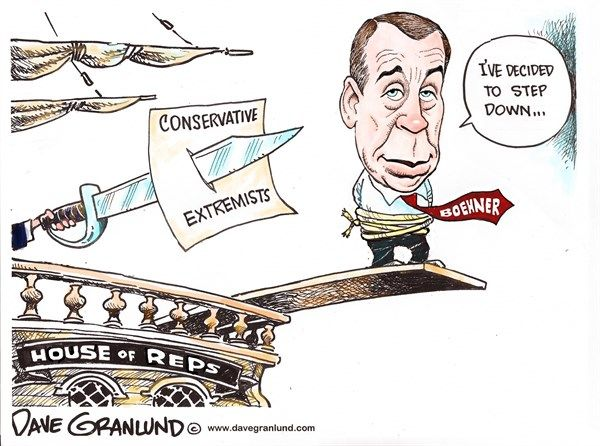 Image result for cartoons boehner and conservatives
