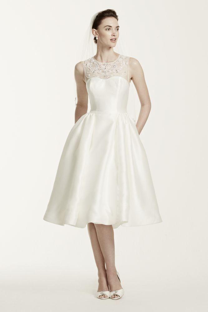 Oleg Cassini Tea Length Wedding Dress