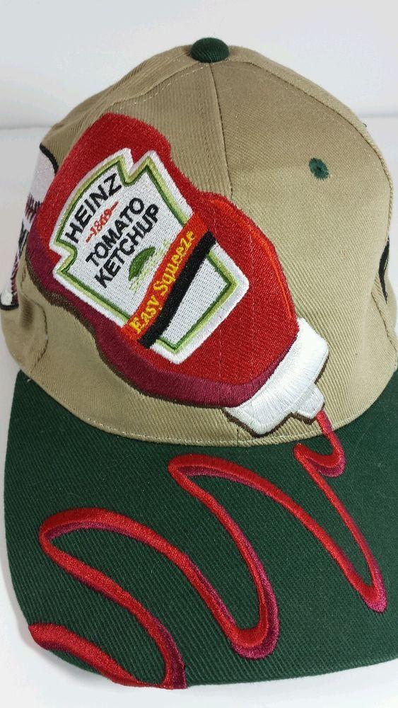 Baseball Cap Mens Heinz Ketchup Hat Adjustable Novelty Cool  69d6e249765d