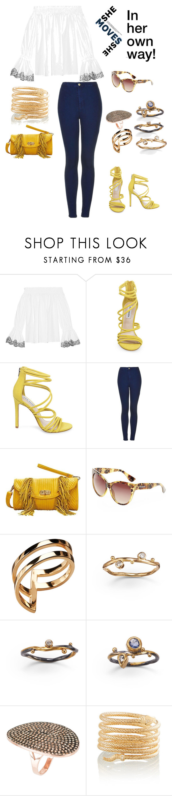 """Be Yourself"" by maryth230 on Polyvore featuring Alexander McQueen, Steve Madden, Topshop, Mellow World, Gold Philosophy, Latelita, Bensimon and mykindofstyle"