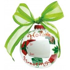 Personalize this ornament with a permanent marker! Great gift idea!