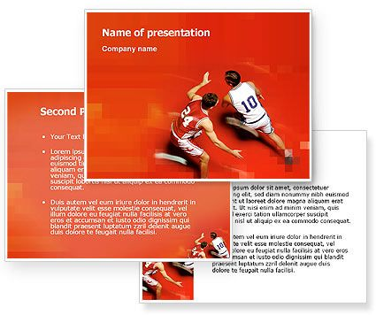 Download Free Sport Game Powerpoint Template And Background For