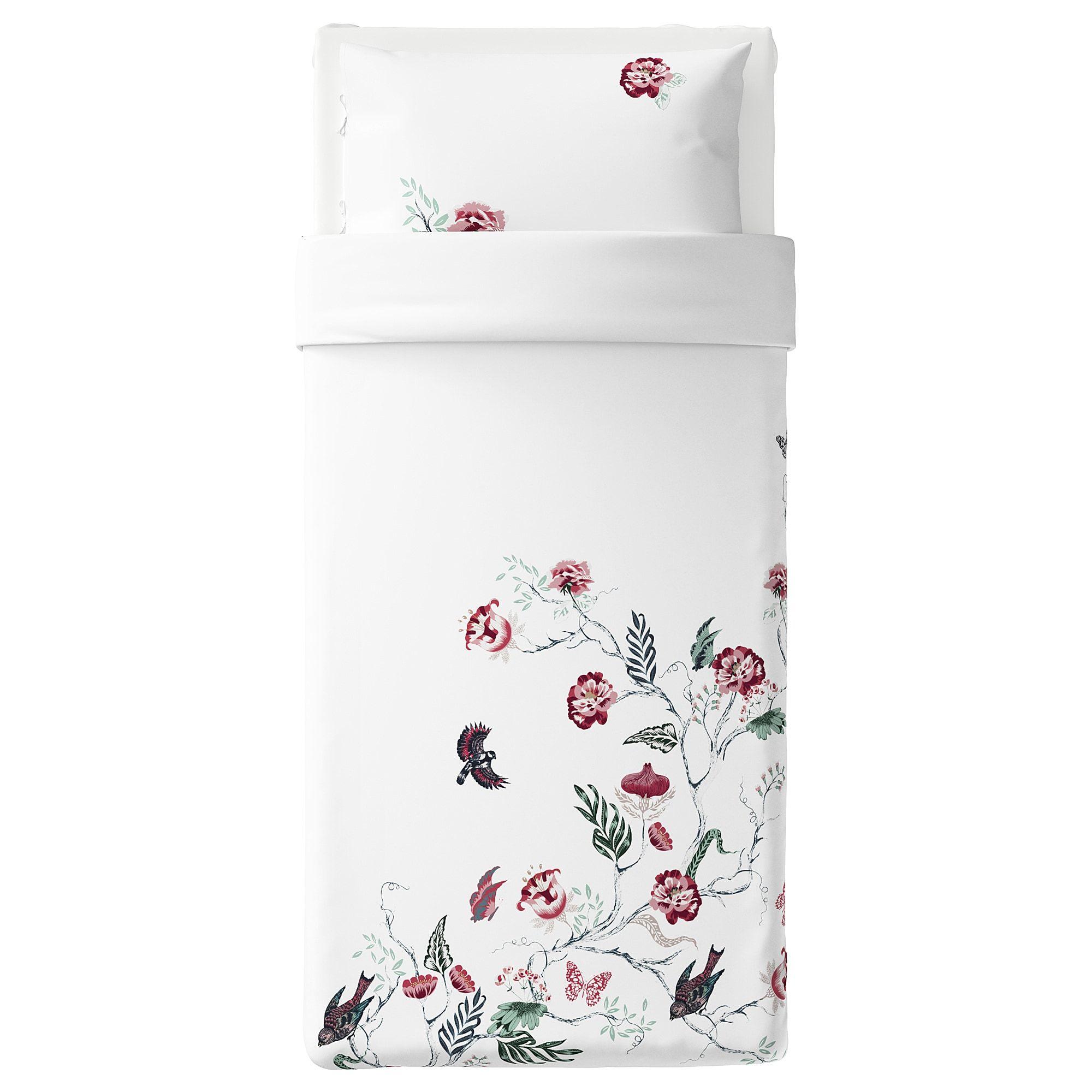 IKEA JÄTTELILJA Duvet cover and pillowcase(s) white