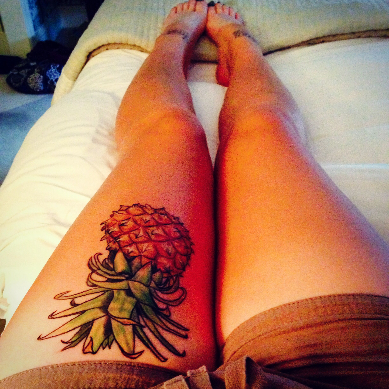 I Love Pineapples Tattoos Tattoos Pineapple Tattoo