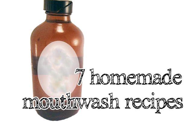 homemade mouthwash recipes
