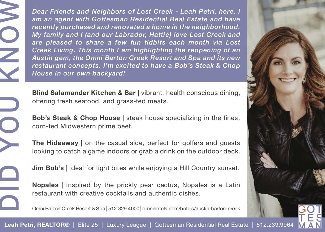 Excited To Share Did You Know In Lost Creek Living Magazine Starting The Month Of July Lost Creek Residential Real Estate The Neighbourhood